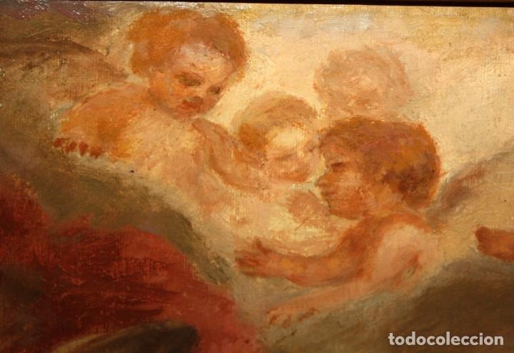 Arte: JOSE DABRIO PEREZ (1900-1973) OLEO SOBRE TELA. SAN ANTONIO SEGUN MURILLO - Foto 10 - 176736639