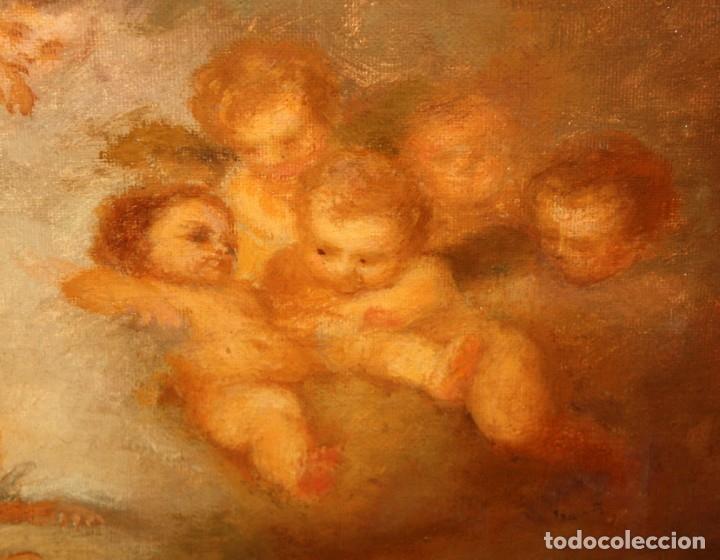 Arte: JOSE DABRIO PEREZ (1900-1973) OLEO SOBRE TELA. SAN ANTONIO SEGUN MURILLO - Foto 12 - 176736639