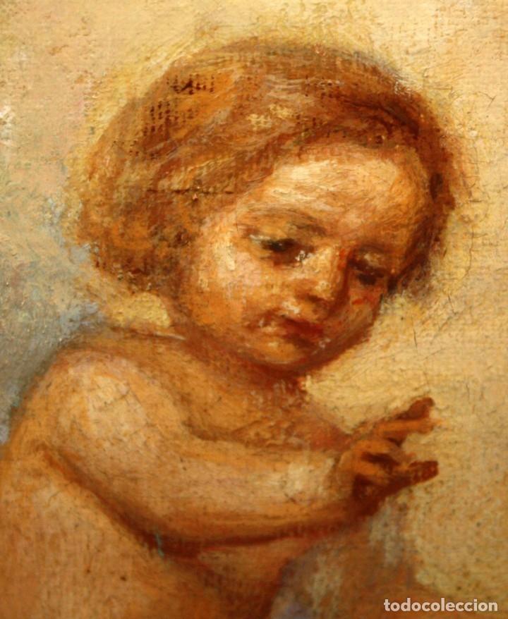 Arte: JOSE DABRIO PEREZ (1900-1973) OLEO SOBRE TELA. SAN ANTONIO SEGUN MURILLO - Foto 14 - 176736639