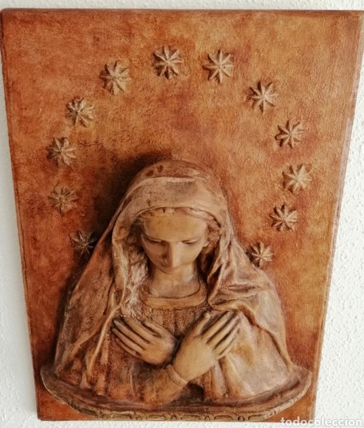Arte: Antiguo Retablo Virgen de Madera. - Foto 4 - 176760908
