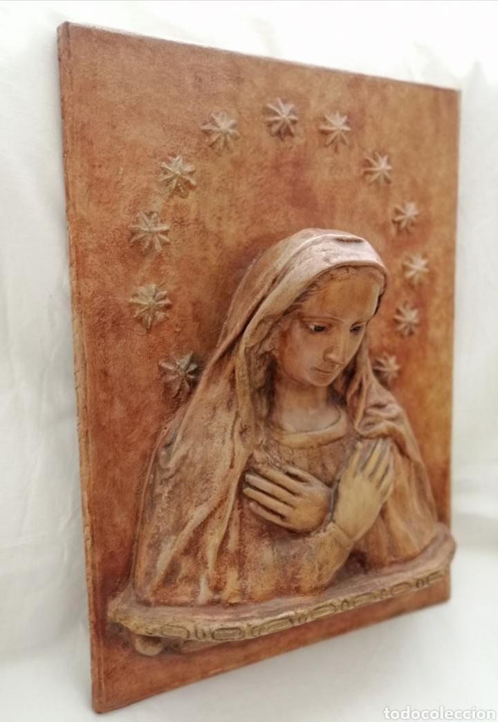 Arte: Antiguo Retablo Virgen de Madera. - Foto 6 - 176760908