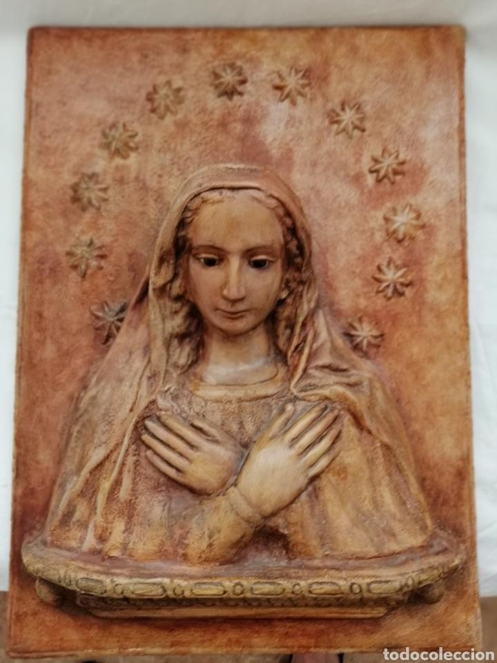 Arte: Antiguo Retablo Virgen de Madera. - Foto 8 - 176760908