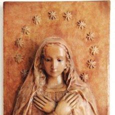 Arte: ANTIGUO RETABLO VIRGEN DE MADERA.. Lote 176760908