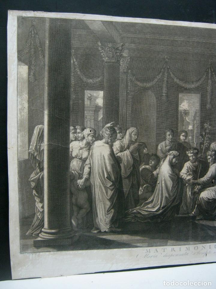 Arte: 60 cm - Impresionante grabado florentino - Matrimonio entre MARIA y JOSE- c. S.XVII - Foto 2 - 176761287