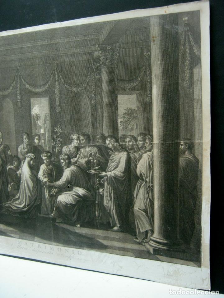 Arte: 60 cm - Impresionante grabado florentino - Matrimonio entre MARIA y JOSE- c. S.XVII - Foto 3 - 176761287
