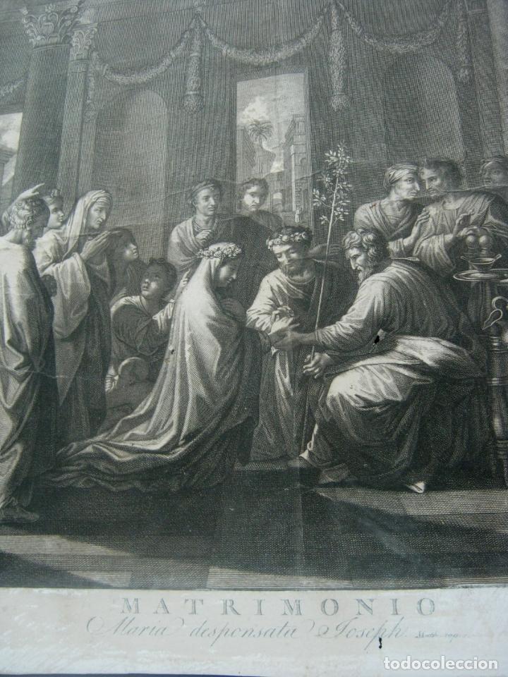 Arte: 60 cm - Impresionante grabado florentino - Matrimonio entre MARIA y JOSE- c. S.XVII - Foto 4 - 176761287