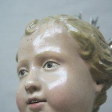 Arte: S. XIX - ANTIGUA ESTATUA DEL NIÑO JESUS - POTENCIAS DE PLATA. Lote 176763768