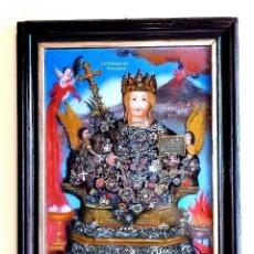 Arte: ST. AGATA (D) CM 40X30 PINTURA RELIGIOSA OLEO BAJO CRISTAL SICILY 800 ' (REPRODUCCIÓN). Lote 176781284