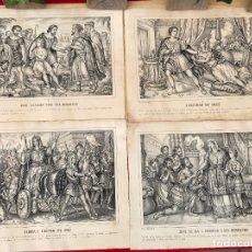 Arte: 4 GRABADOS DE LA VIDA DE JOSE - MITJANA MALAGA 32X26 CADA UNO. Lote 176785997