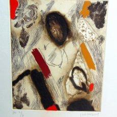 Arte: JOSEP GUINOVART, GRABADO, GOFRADO, COLOREADO A MANO, HC, 2/6 . NUMERADO Y FIRMADO A LAPICERO. Lote 176818284