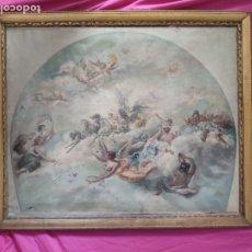 Arte: ÓLEO SOBRE LIENZO, PARA DECORAZION DEL TECHO DEL TEATRO ROMEA (MURCIA), 1000-077. Lote 176837464