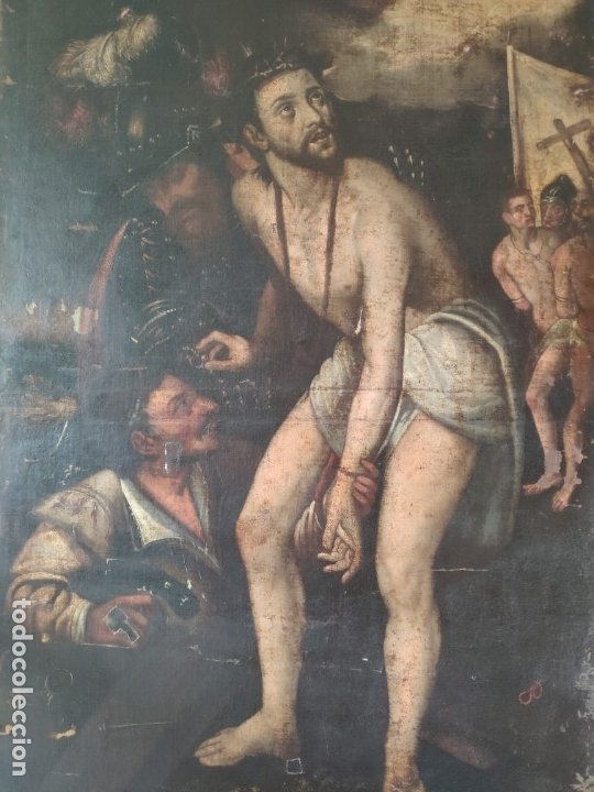 Arte: ÓLEO SOBRE LIENZO, ECCE HOMO, SIGLO XVI, 1000-076 - Foto 2 - 176838005
