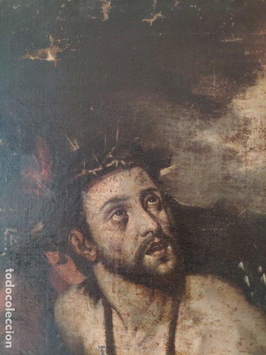 Arte: ÓLEO SOBRE LIENZO, ECCE HOMO, SIGLO XVI, 1000-076 - Foto 4 - 176838005
