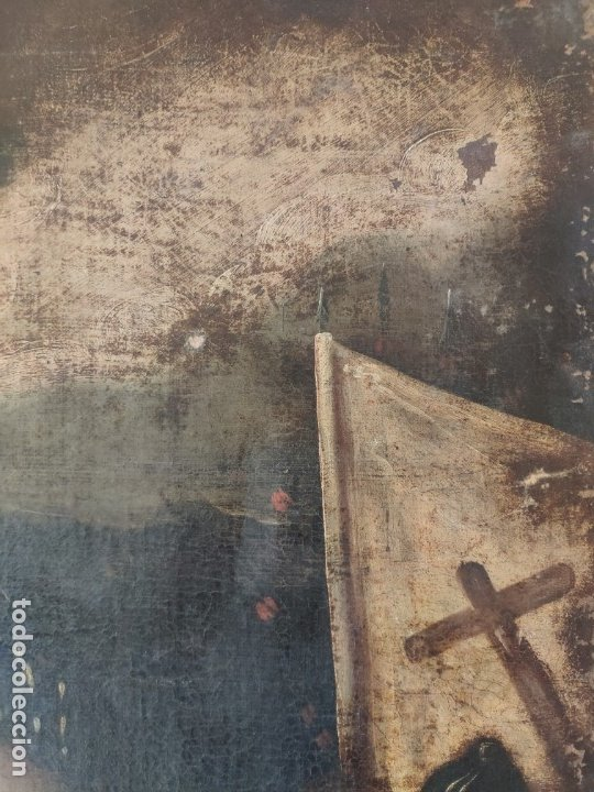 Arte: ÓLEO SOBRE LIENZO, ECCE HOMO, SIGLO XVI, 1000-076 - Foto 5 - 176838005