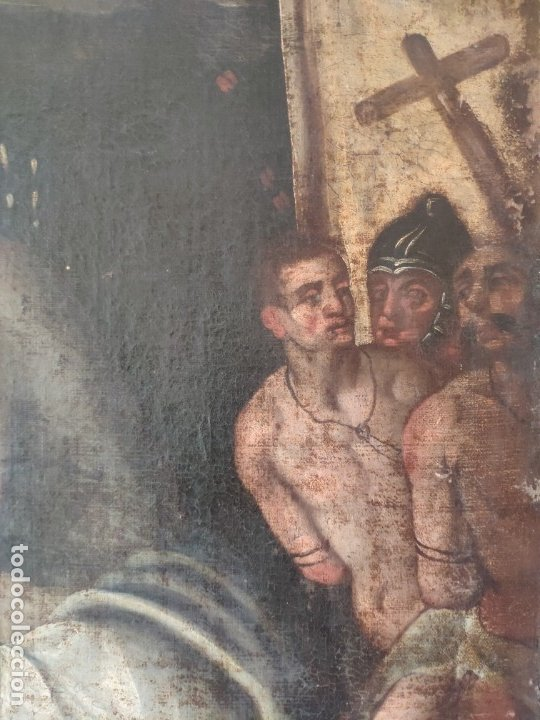 Arte: ÓLEO SOBRE LIENZO, ECCE HOMO, SIGLO XVI, 1000-076 - Foto 6 - 176838005