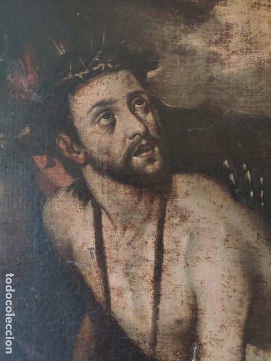 Arte: ÓLEO SOBRE LIENZO, ECCE HOMO, SIGLO XVI, 1000-076 - Foto 7 - 176838005