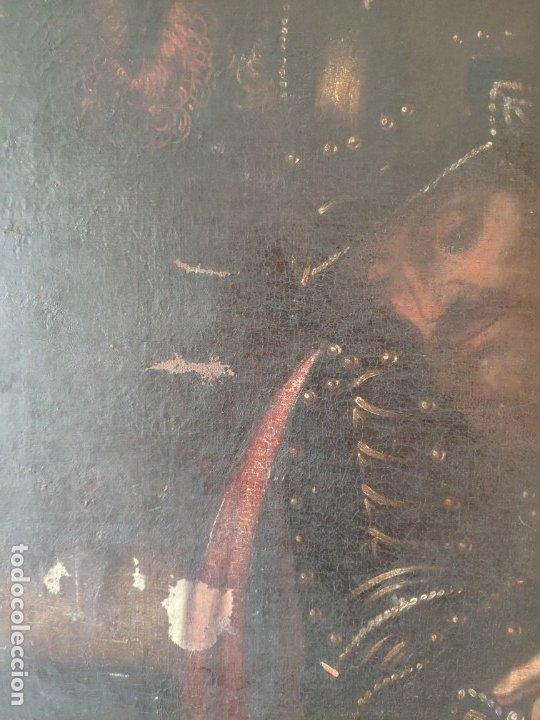 Arte: ÓLEO SOBRE LIENZO, ECCE HOMO, SIGLO XVI, 1000-076 - Foto 9 - 176838005
