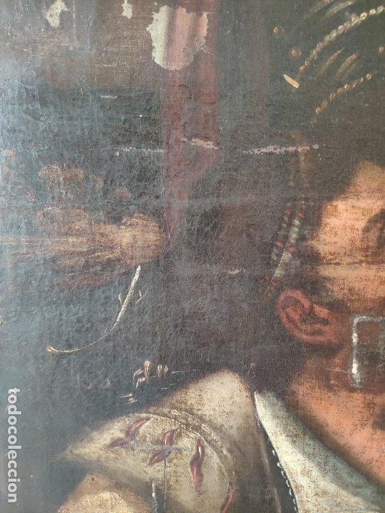 Arte: ÓLEO SOBRE LIENZO, ECCE HOMO, SIGLO XVI, 1000-076 - Foto 10 - 176838005