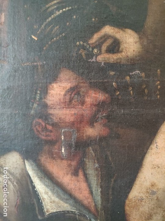 Arte: ÓLEO SOBRE LIENZO, ECCE HOMO, SIGLO XVI, 1000-076 - Foto 11 - 176838005