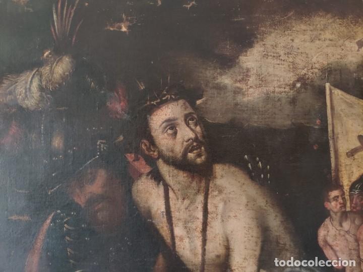 Arte: ÓLEO SOBRE LIENZO, ECCE HOMO, SIGLO XVI, 1000-076 - Foto 12 - 176838005