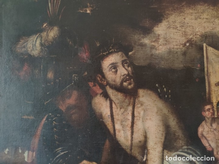 Arte: ÓLEO SOBRE LIENZO, ECCE HOMO, SIGLO XVI, 1000-076 - Foto 13 - 176838005