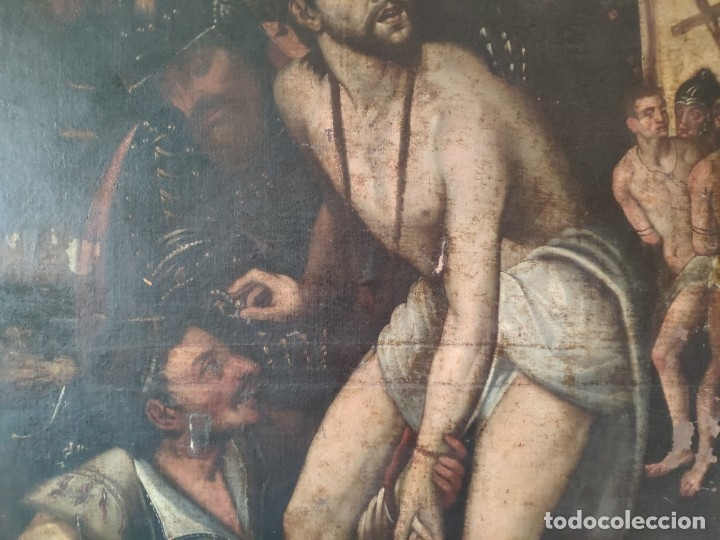 Arte: ÓLEO SOBRE LIENZO, ECCE HOMO, SIGLO XVI, 1000-076 - Foto 15 - 176838005