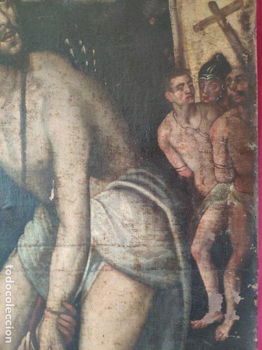 Arte: ÓLEO SOBRE LIENZO, ECCE HOMO, SIGLO XVI, 1000-076 - Foto 16 - 176838005