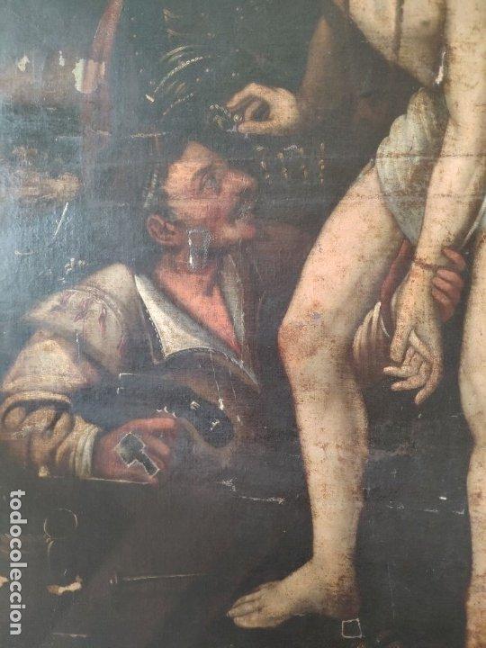 Arte: ÓLEO SOBRE LIENZO, ECCE HOMO, SIGLO XVI, 1000-076 - Foto 17 - 176838005