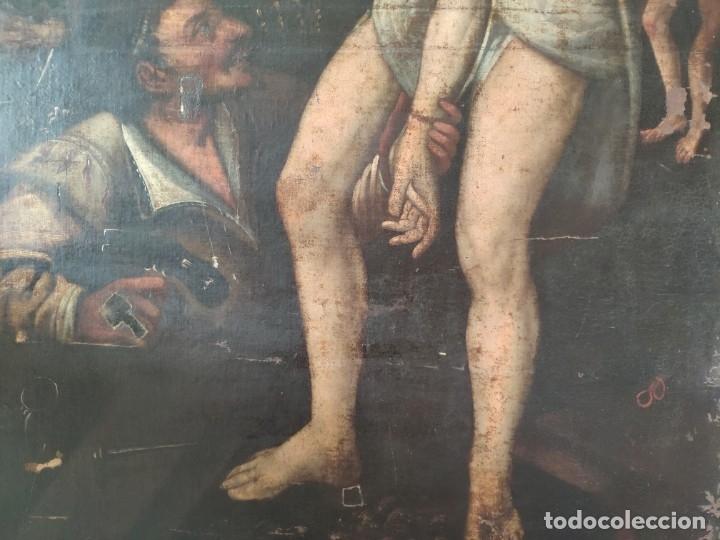 Arte: ÓLEO SOBRE LIENZO, ECCE HOMO, SIGLO XVI, 1000-076 - Foto 18 - 176838005