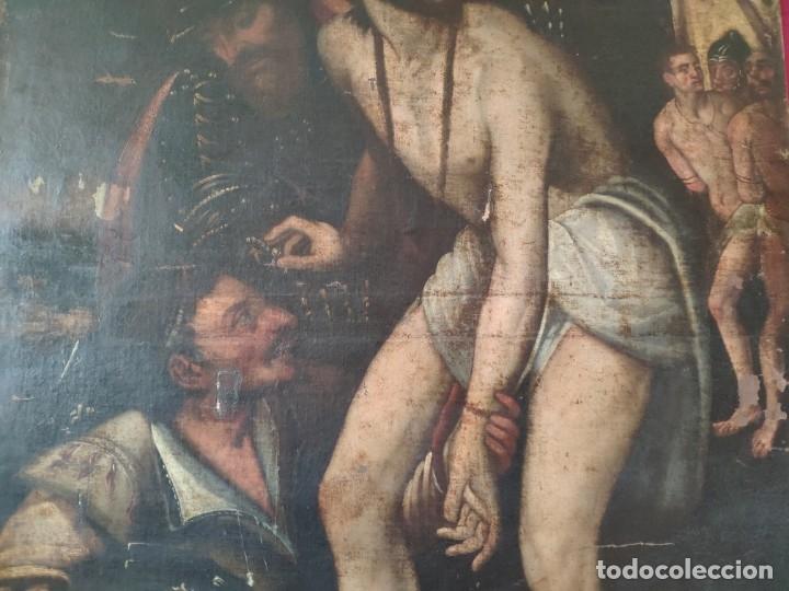 Arte: ÓLEO SOBRE LIENZO, ECCE HOMO, SIGLO XVI, 1000-076 - Foto 19 - 176838005