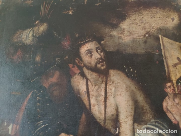 Arte: ÓLEO SOBRE LIENZO, ECCE HOMO, SIGLO XVI, 1000-076 - Foto 20 - 176838005