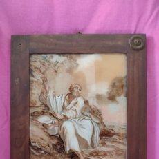 Arte: OLEO SOBRE VIDRIO, SAN PEDRO, SIGLO XIX, 1000-009. Lote 176860272