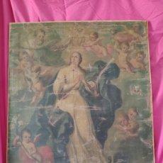 Arte: ÓLEO SOBRE LIENZO, INMACULADA, SIGLO XVIII, 1000-038B. Lote 176860793