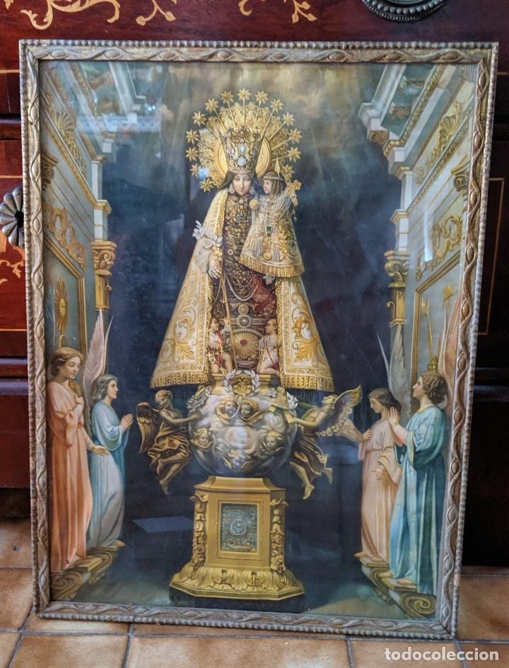 Arte: VIRGEN DE LOS DESAMPARADOS CUADRO ANTIGUO PRINCIPIOS DE XX - 40 X 53 cm. - Foto 2 - 176874128