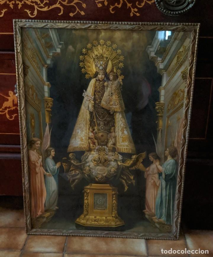 Arte: VIRGEN DE LOS DESAMPARADOS CUADRO ANTIGUO PRINCIPIOS DE XX - 40 X 53 cm. - Foto 4 - 176874128