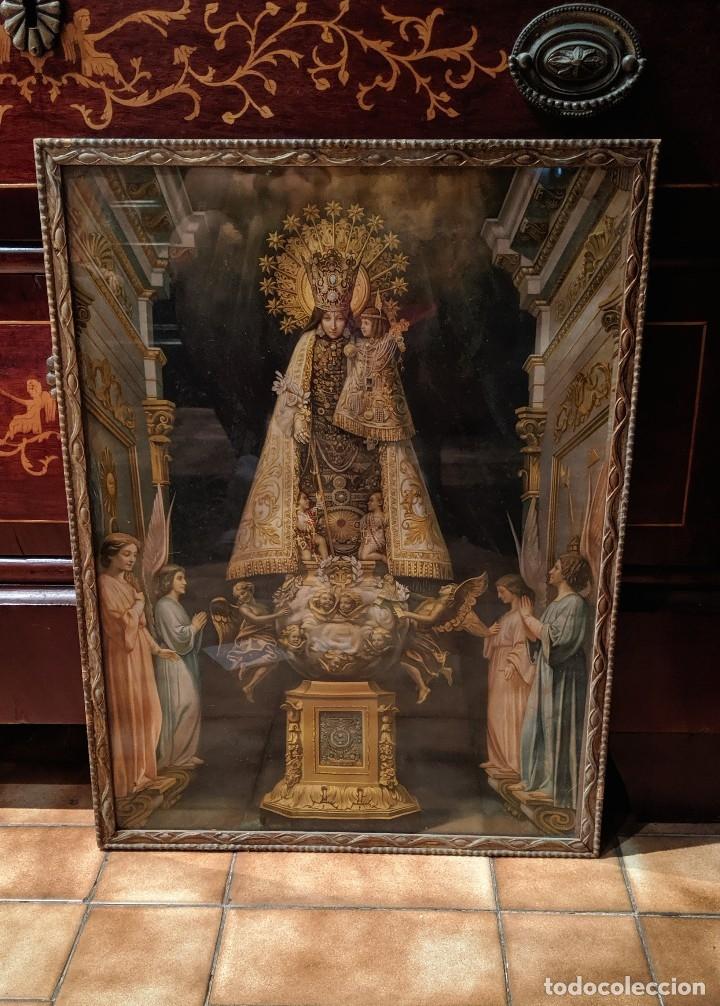 VIRGEN DE LOS DESAMPARADOS CUADRO ANTIGUO PRINCIPIOS DE XX - 40 X 53 CM. (Arte - Arte Religioso - Pintura Religiosa - Otros)