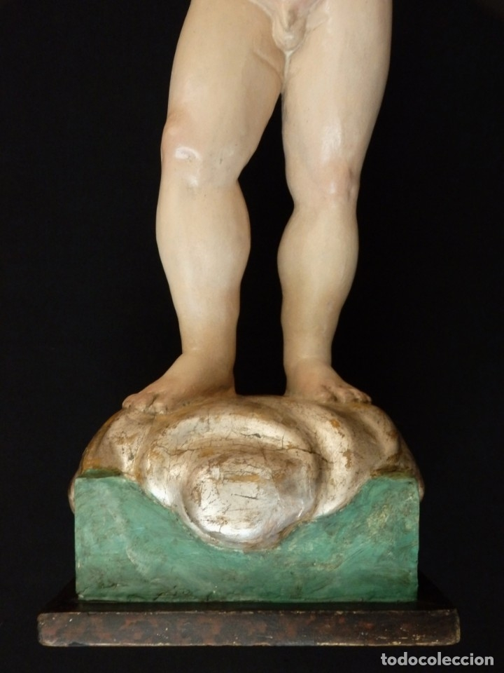 Arte: Niño Jesús Pasionario en madera tallada y policromada de la Esc. Española. Mide 57 cm. Siglo XVIII. - Foto 8 - 176946939