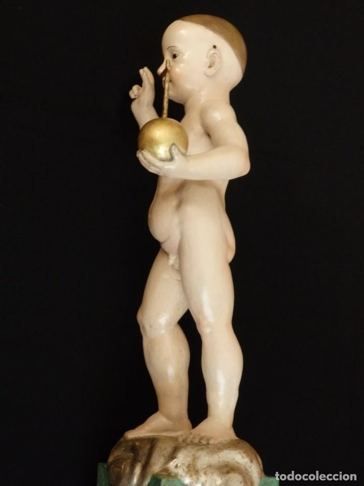 Arte: Niño Jesús Pasionario en madera tallada y policromada de la Esc. Española. Mide 57 cm. Siglo XVIII. - Foto 13 - 176946939