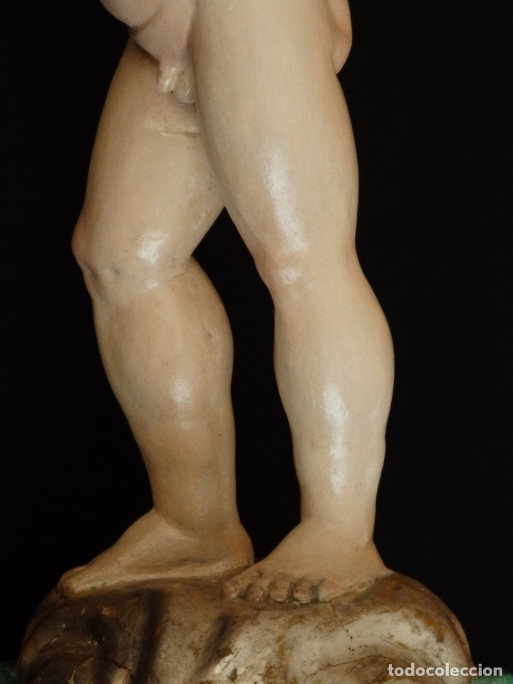 Arte: Niño Jesús Pasionario en madera tallada y policromada de la Esc. Española. Mide 57 cm. Siglo XVIII. - Foto 16 - 176946939