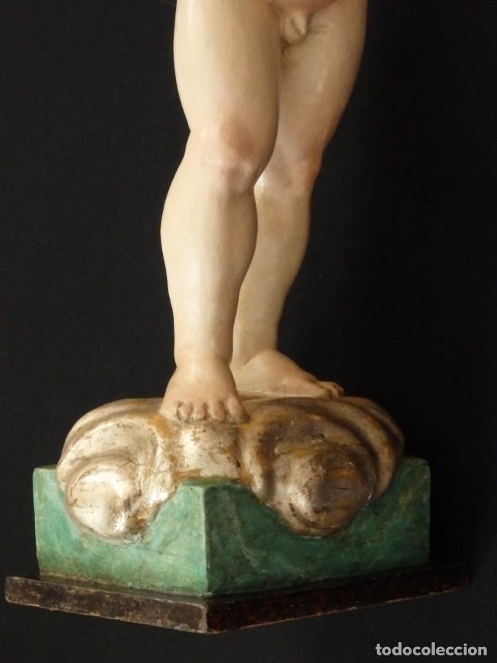 Arte: Niño Jesús Pasionario en madera tallada y policromada de la Esc. Española. Mide 57 cm. Siglo XVIII. - Foto 19 - 176946939