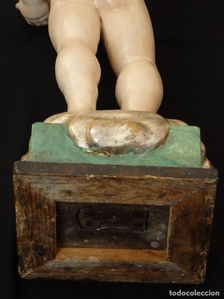 Arte: Niño Jesús Pasionario en madera tallada y policromada de la Esc. Española. Mide 57 cm. Siglo XVIII. - Foto 23 - 176946939