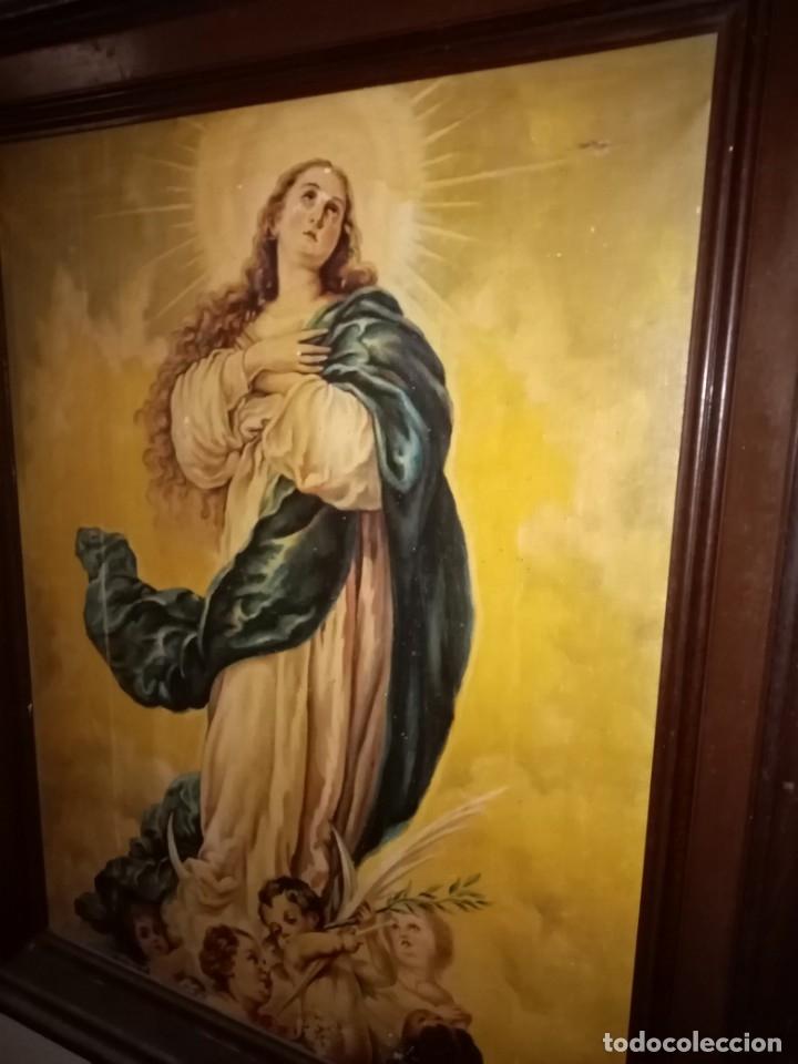 Arte: cuadro virgen antiguo - Foto 6 - 68341509