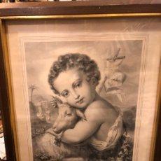 Arte: ESTAMPA GRABADO PRECIOSO SAN JUANITO . Lote 176995852