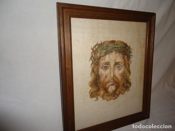 CUADRO, SANTA FAZ DE JESUCRISTO, SOBRE LINO O SEDA. (Arte - Arte Religioso - Pintura Religiosa - Otros)