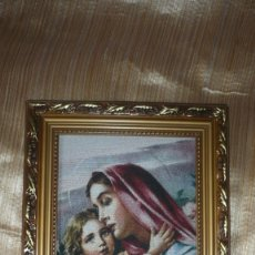 Arte: CUADRO EN TELA VIRGEN CON NIÑO. Lote 177032738