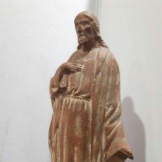 Arte: MARTRUS I RIERA / ,ESCULTOR // (SAGRADO CORAZON ) (TERRACOTA )NACIO EN MANRESA.. Lote 177084645