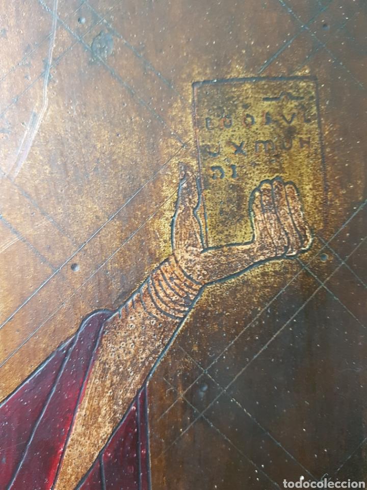 Arte: Pantocrator (XIX-XX) - Gran Retablo Anonimo.Temple/tabla. - Foto 4 - 176648550