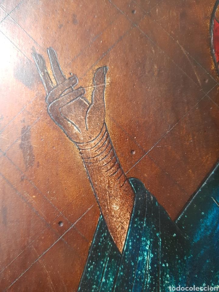 Arte: Pantocrator (XIX-XX) - Gran Retablo Anonimo.Temple/tabla. - Foto 5 - 176648550