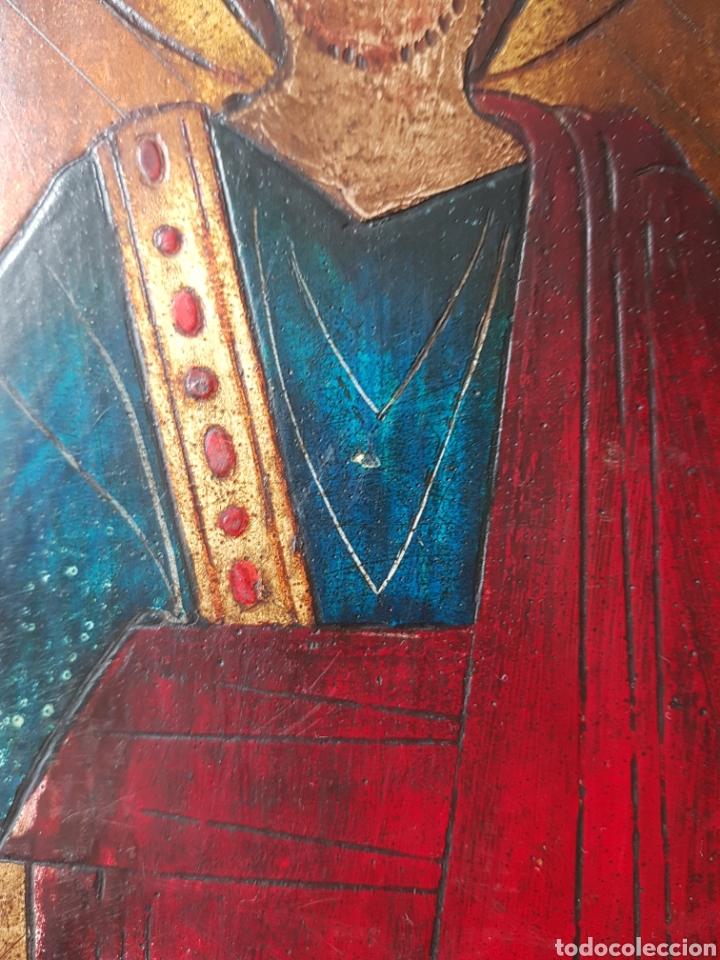Arte: Pantocrator (XIX-XX) - Gran Retablo Anonimo.Temple/tabla. - Foto 6 - 176648550