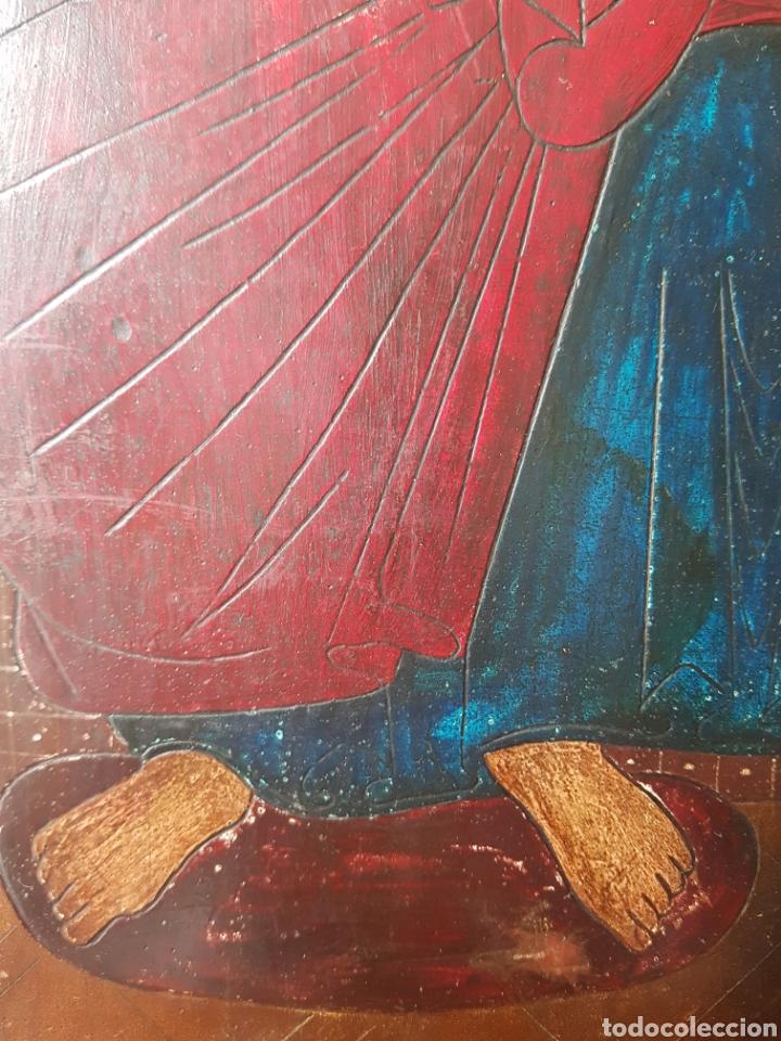 Arte: Pantocrator (XIX-XX) - Gran Retablo Anonimo.Temple/tabla. - Foto 7 - 176648550
